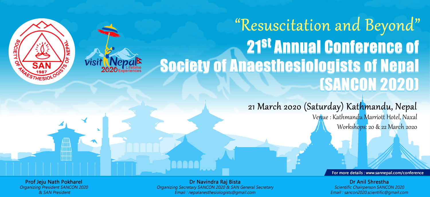 21st Annual Conference of Society of Anaesthesiologists of Nepal  (SANCON 2020)